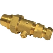 25mm MDPE TO 22mm COPPER COMPRESSION TRANSITION FITTING