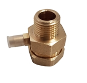 "22MM COPPER COMPRESSION X 1/2"" MALE BSPT ADAPTOR WITH TEST POINT"