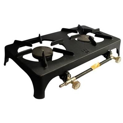 Large Boiling Ring, Double Burner - Cast Iron  (510 x 240 x 90mm)